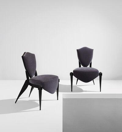 "André Dubreuil, 'Pair of ""Trévise"" chairs', circa 1988"