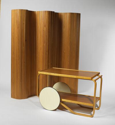 Alvar Aalto, 'Screen (model 100); Tea trolley (model 98)'