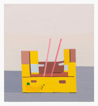 Guy Yanai, 'Banana Box With Pink Stripes', 2016