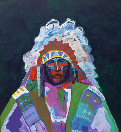 John Nieto, 'Jack Red Cloud', 1987