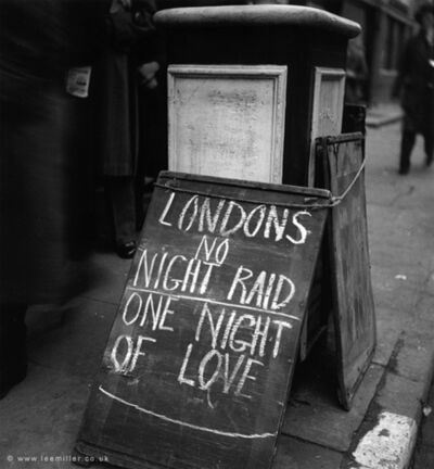 Lee Miller, 'One night of Love, London', 1940