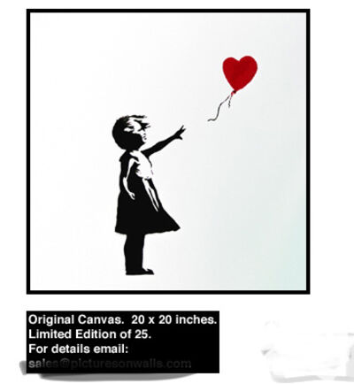 Banksy, 'Girl with Balloon (Original Canvas)', 2003