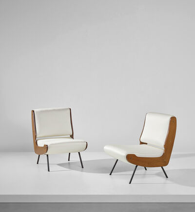Gianfranco Frattini, 'Pair of lounge chairs'