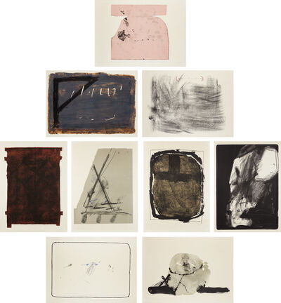 Antoni Tàpies, 'Album St. Gallen: nine plates', 1965