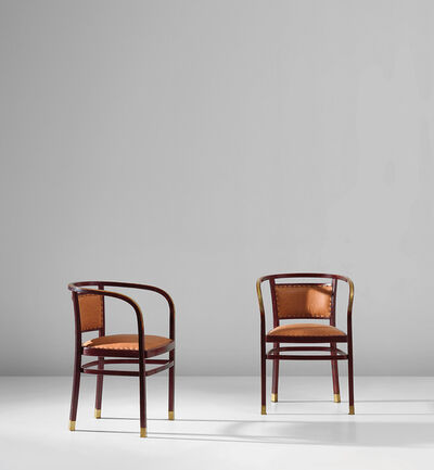 Otto Wagner, 'Pair of armchairs, model no. 718/F', circa 1910