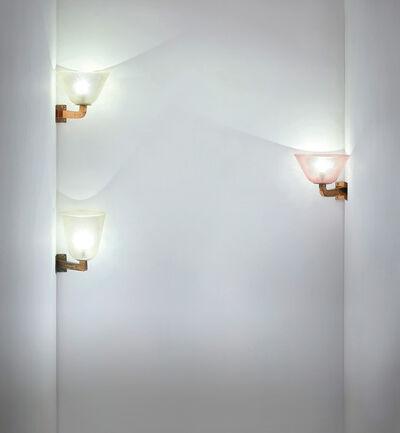 Seguso, 'Three large corner wall lights', circa 1940