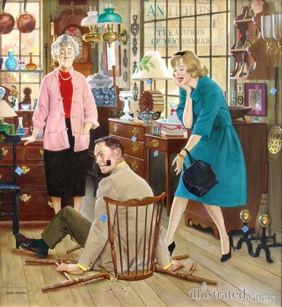 John Philip Falter, 'Antique Store Accident, Saturday Evening Post Cover'