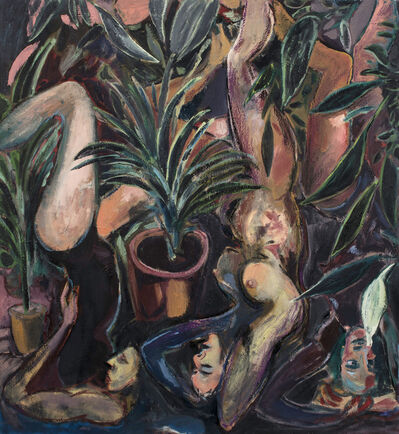 Lee Johnson, ''Yoga among the house plants'', 2018