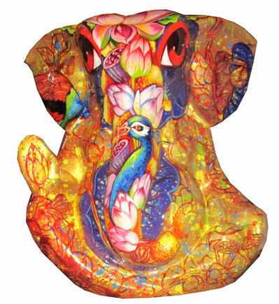 Sachindra Nath Jha, 'Golden  Ganesha', 2018