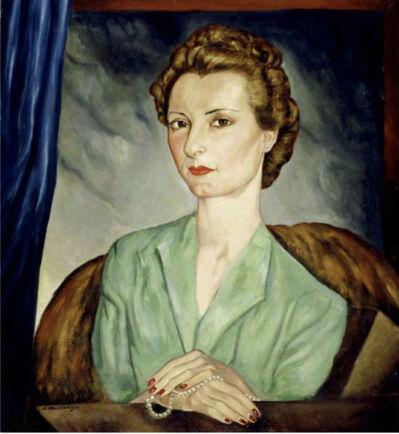 Roberto Nervo Montenegro, 'Retrato de María Ugarte de Bava', 1935