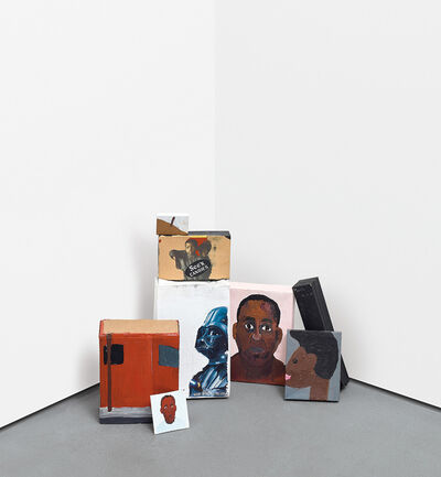 Henry Taylor, 'Eight works: Untitled (Painted Cardboard Boxes)'