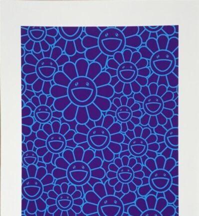 Takashi Murakami, 'MAY SHOWER SILKSCREEN (BLUE/PURPLE FLOWERS)', 2019