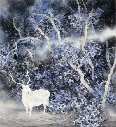 Chan Keng Tin 陳鏡田, 'Linger on Shore No. 4 | Navy Blue Deer in A Fairytale Forest Wonderland', 2018