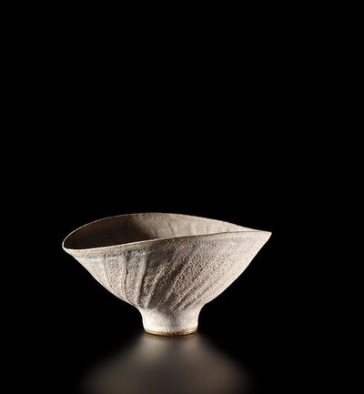 Lucie Rie, 'Oval bowl with fluted sides', circa 1980
