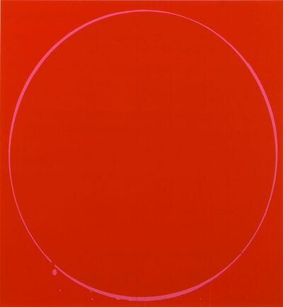 Ian Davenport, 'Oval dark red, magenta, dark red', 2002