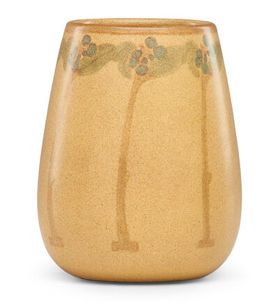 Marblehead, 'Vase with stylized fruit trees', 1910s-20s