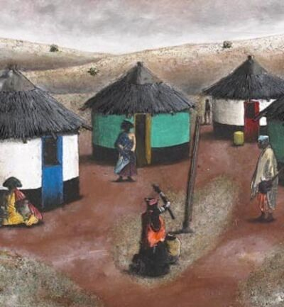 Vusi Khumalo, 'Homestead in Mqoboli Village'