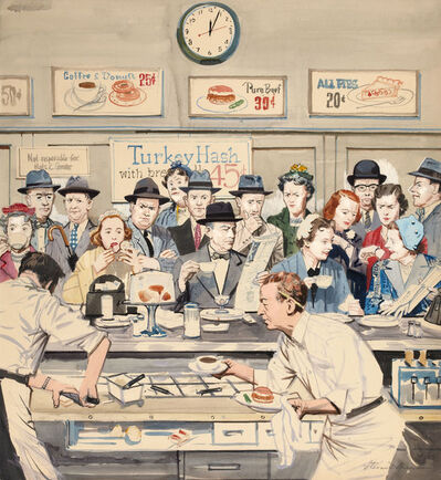 Stevan Dohanos, 'Impatience At The Counter', 1960-1969