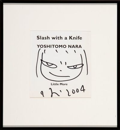 Yoshitomo Nara, 'Untitled Drawing, from Slash with a Knife', 2004