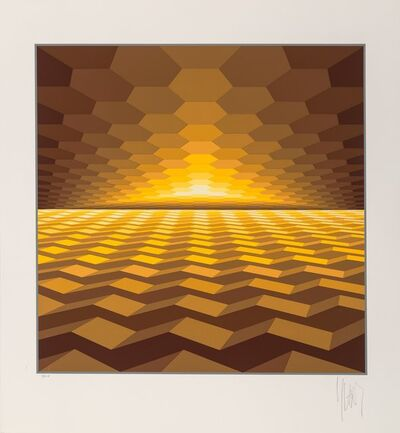 Jean-Pierre Vasarely, 'Horizon and Star (two works)', 1975