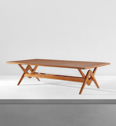 "Le Corbusier, '""Committee"" table, model no. LC/PJ-TAT-14-B, designed for the Assembly, Chandigarh', 1963-64"