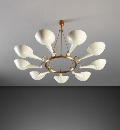 Stilnovo, 'Rare nine-arm ceiling light', 1950s