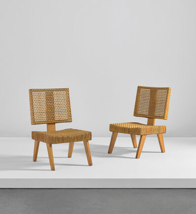 Pierre Jeanneret, 'Pair of chairs', circa 1956