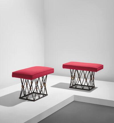 "Jean Royère, 'Pair of ""Mirabeau"" stools', circa 1957"