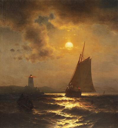 Mauritz Frederik Hendrik de Haas, 'Fishing at Moonlight ', Date Unknown