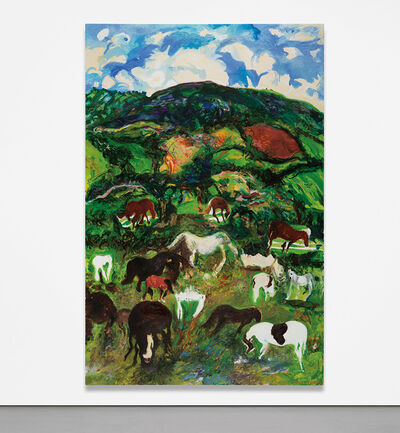 Malcolm Morley, 'Landscape with Horses', 1980