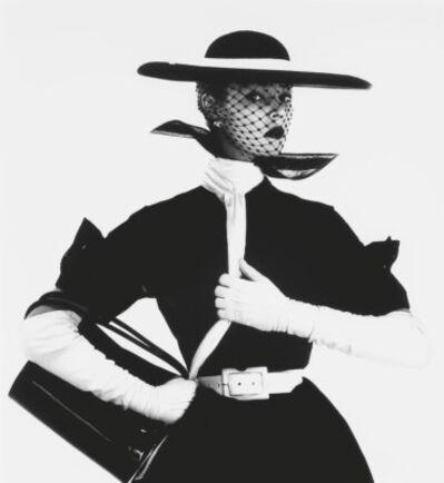 Irving Penn, 'B&W Fashion with Handbag 'B''