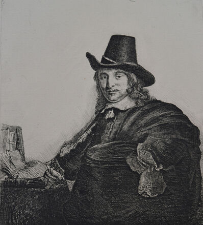 Rembrandt van Rijn, 'Jan Asselyn, Painter ('Crabbetje'; 1610-52)', Etched c. 1647, Printed in 1906 (Beaumont, Paris)