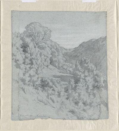 Jean-Paul Flandrin, 'Sunlit Trees in a Valley near Lacoux', 1840
