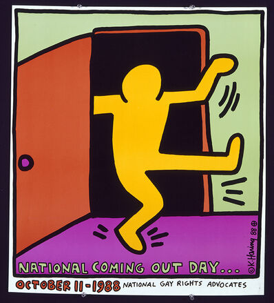 Keith Haring, 'National Coming Out Day', 1988