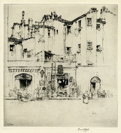 Ernest David Roth, 'Florentine Shops (Italy)', 1914