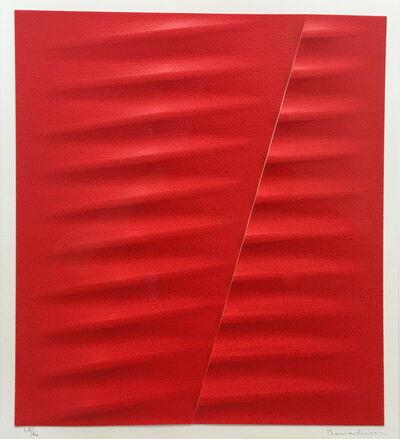 Agostino Bonalumi, 'Rosso', 2003