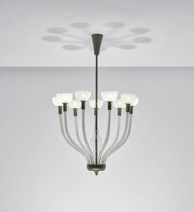 Carlo Scarpa, 'Rare nine-armed chandelier, model no. 5338', circa 1942