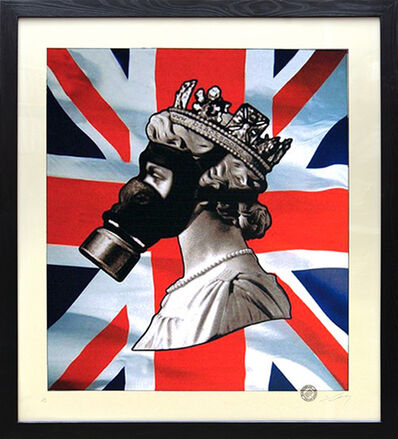 James Cauty, 'Queen with Gas Mask.', 2004