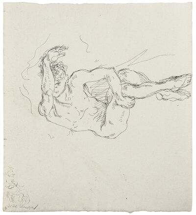 Paul Cadmus, 'Reclining Male Nude (Arm Raised)', n.d.