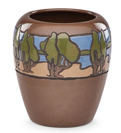 Fannie Levine, 'Fine large vase with landscape', 1921