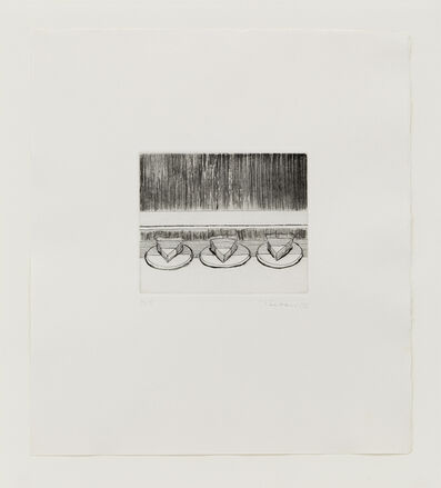 Wayne Thiebaud, 'Case Pies', 1965