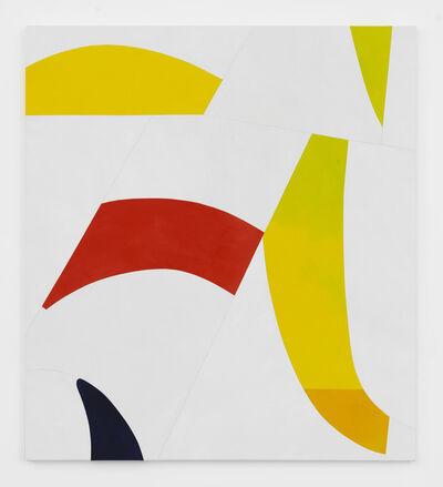 Sarah Crowner, 'Sliced Yellow, Red, Indigo', 2017