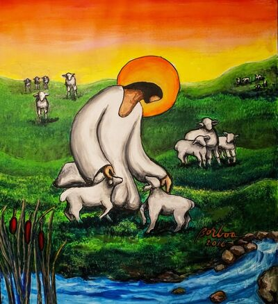 Francisco Borboa, 'Jesus the Good Shepherd 耶穌善牧'