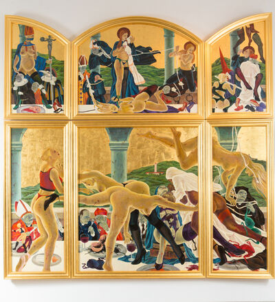 Masami Teraoka, 'The Cloisters Last Supper/Arabesque Spread', 2012
