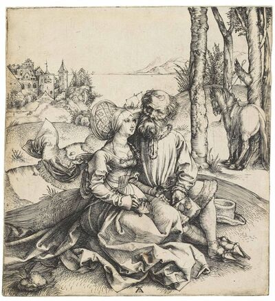 Albrecht Dürer, 'The ill-assorted Couple (B. 93; M., Holl. 77; S.M.S. 3)', ca. 1495