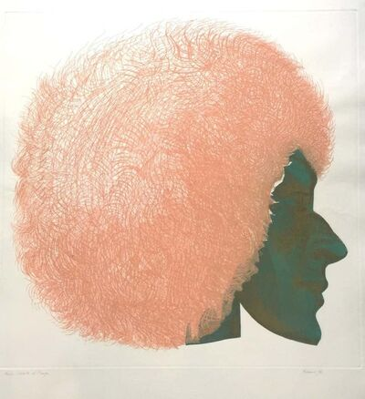 Giacomo Porzano, 'Profile in Pink and Green', 1972