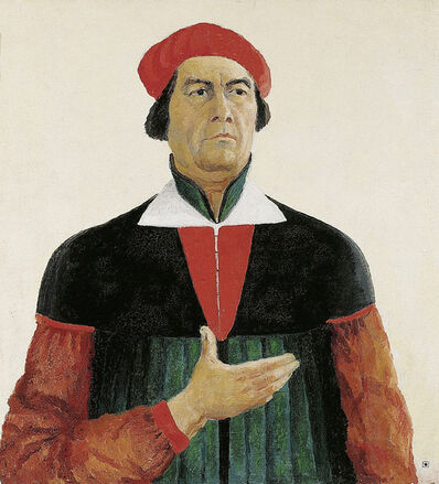 "Kasimir Severinovich Malevich, 'Perfected portrait of Ivan Kljun, painter, pupil of Malevich, member of the group ""Supremus""(1873-1942)', 1913"