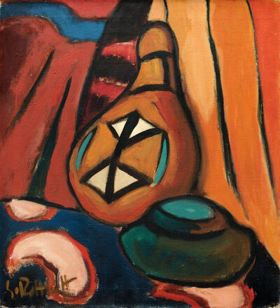 Karl Schmidt-Rottluff, 'Still Life with a Calabash Bottle', 1915