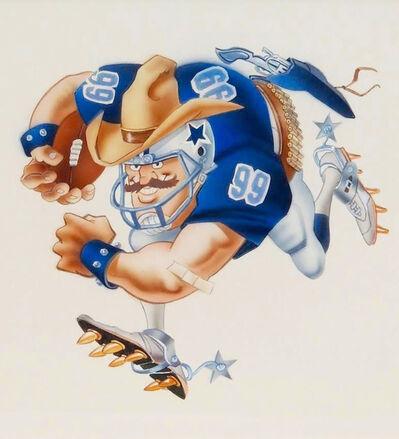 Jack Davis, 'Dallas Cowboys Football Illustration', 1990