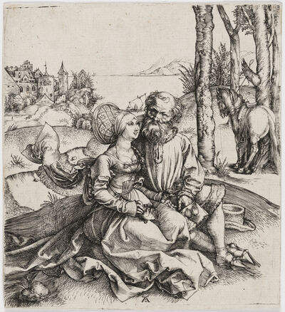 Albrecht Dürer, 'The Ill-Assorted Couple (or The Promise of Love)', 1495